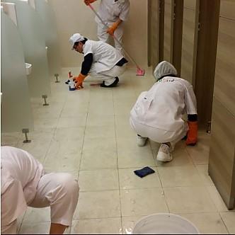 건물 화장실 청소
